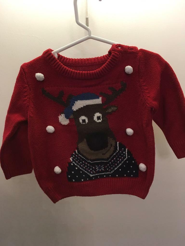Boys Christmas jumper 6-9 months