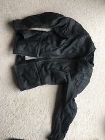 Ladies Size 10 Black Leather Motorcycle Jacket