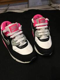 Nike air max trainers 👟 pink, black, grey, size 12