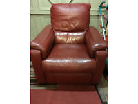 Single Seater Leather Chair with Recliner