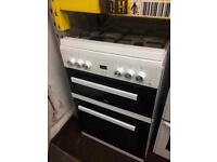 White beko 60cm gas cooker grill & double ovens excellent condition with guarantee