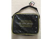 New with tags Star Wars messenger bag leather feel