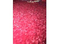 *BRAND NEW* RED CARPET, high quality natural, large off cut remnant.