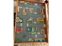 Reversible car & train wooden table