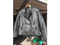 Motorbike leather jacket small