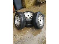 Volkswagen Caddy steel wheels and snow tires. GREAT CONDITION!