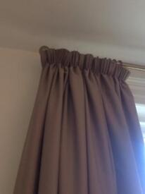 Long curtains raw silk like material 3 pairs