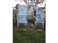 Aluminium greenhouse 8ft x 6ft