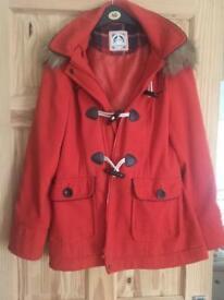 New Look Orange Duffle Coat Size 12