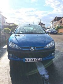 Peugeot 206 for sale, low mileage for age, very well maintained, 2003, manual, 1.4