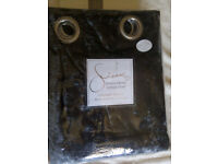SIENNA silver gray crushed velvet readymade curtains,fully lined eyelet, bnip