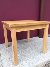 Square beech coffee table