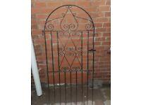 Decorative garden gate good condition 183 cm height 81 cm wide