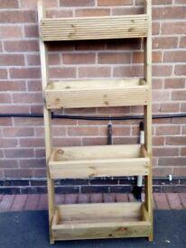 ladder style wooden planter