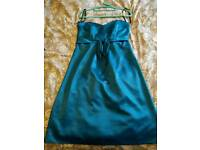 Dessy sample Teal bridesmaid