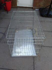 Large metal pet cage 90cmx50cmx50cm