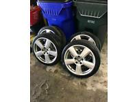 "18"" 5x112 GENUINE Audi/VW alloys with tyres."