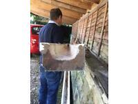Wooden guttering brand new in primer 4meter lengths