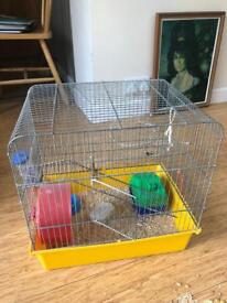 Second Hand Hamster Cage - Includes all features in photo