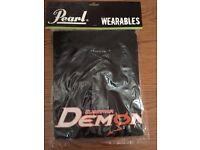 Pearl Drums T Shirt Demon Drive Brand New Packaged Black Medium