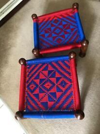 2 Brand New hand made stools