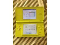 Lime Green Nintendo ds with over 100+ games