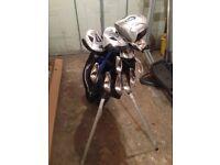 Wilson Pro Staff Golf Clubs & Stand Bag