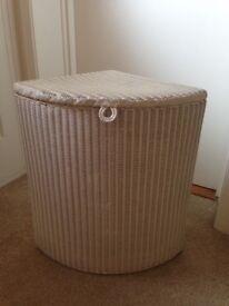 Vintage Lloyd Loom Corner Laundry Basket