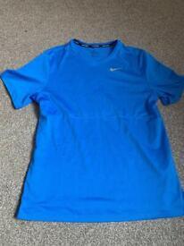 Nike Men's Running T-Shirt Blue Medium Great Condition