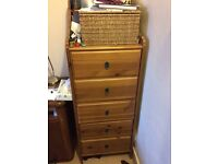 Great storage. Tall chest of drawers x2