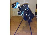 BOYS Golf clubs and carry bag -Jaxx Blue age 11-14
