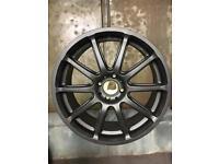 Alloy wheels metallic matt black