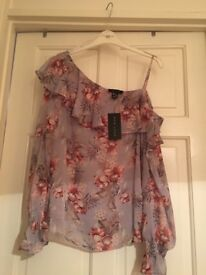 Brand new size 14 one shoulder top