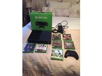 Xbox one, two pads, Kinect and games