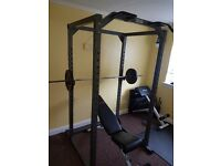 Gym Squat Cage & Weight Bench Bundle