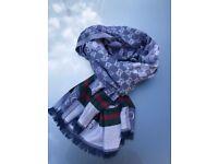 GUCCI GG logo Cashmere/Silk scarf schawl NEW!!
