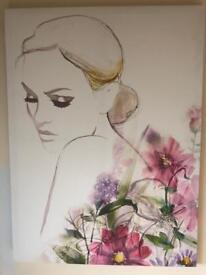 NEXT Floral lady canvas