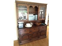 Nathan mahogany dresser/display cabinet/sideboard with light
