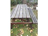 garden pub style bench