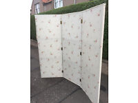 3 Part Room Divide /Screen . Covered in Floral material . Free Local delivery.