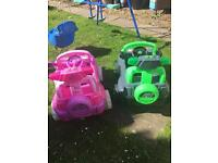 Children's electric cars.