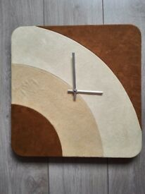 Suede Wall Clock