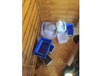 Free plastic tubs