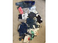 A bundle of boys 0-6 months outfits/clothes from high street retailers (Next, M&S, Tu, Gap etc)