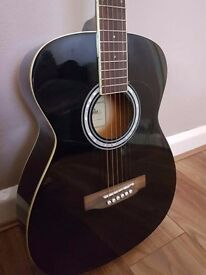 Aria AFN-15BK Acoustic Guitar with TGI Guitar case
