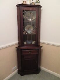 Corner Cabinet - Solid wood and glass