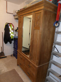 Large oak wardrobe