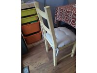 4 IKEA 'Ivar' dining chairs with pads