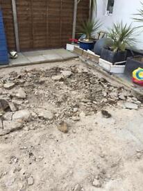 30 Bags of rubble/broken concrete