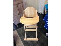 Solid Pine High Chair